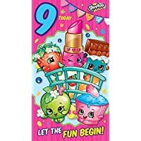 "Shopkins""9th Age 9"" Birthday Card"