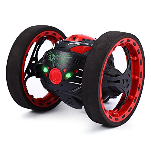 GBlife 2.4GHz Wireless Remote Jumping/Bounce RC Toy Control 2 Second Rotation for Children(Black)