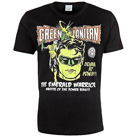 Green Lantern T-Shirt DC Comic Hero Shirt Herren Baumwolle schwarz - S