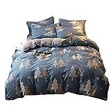 GSYDSJT-GD Bettwäsche eine Seite Baumwolle Seite Vier Sätze von Herbst und Winter Dicke Coral Quilt Cover Student Sheets