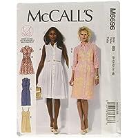 McCall's M6696 - Patrones de costura para confeccionar vestidos de mujer (4 modelos distintos, tallas 8 a 16 ó 34 a 42)