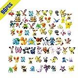 OMZGXGOD Pokemon Monster Toy Figure, Mini Pokemon Figurines, Pokemon Figure comprennent Pikachu, Charmander, Squirtle Cadeau pour Les Enfants(96pièces)