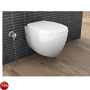 Aqua Bagno Design WC sospeso con bidet/WC sospeso taharat-funzione con chiusura silenziosa