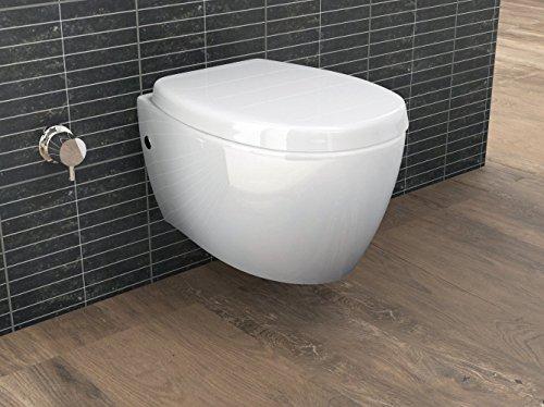 Aqua Bagno Design Hänge Dusch-WC mit Bidet/Taharet-Funktion inkl. Softclose Sitz