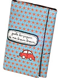 """Porte-papiers de voiture """"Toutes directions"""" - Orange/Bleu - DLP"""