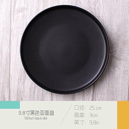 Einfache asiatische Keramik Geschirr westlichen Geschirr Becher Pasta Dish Bowl Restaurant Set Geschirr Teller 9,8 Zoll