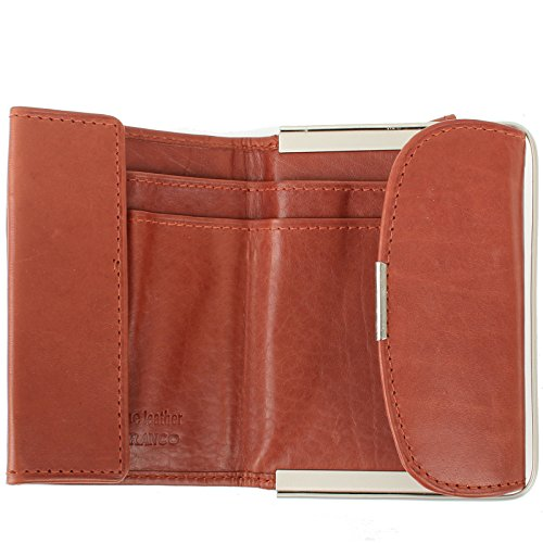Signore borsa piccolo borsa compatta per Borsa di cuoio in vari colori Nero rosso marrone