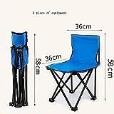 LJHA Klappstuhl Outdoor Tragbare Rückenlehne Stuhl Skizze Hocker Multifunktionale Tragbare Skizze Stuhl Größe Optional Stühle (Farbe : A)