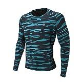 Celucke Funktionsshirt Langarm Kompressionsshirt Herren Sportunterwäsche Funktionsunterwäsche, Unterhemd Laufshirt Kompression Compression Shirt