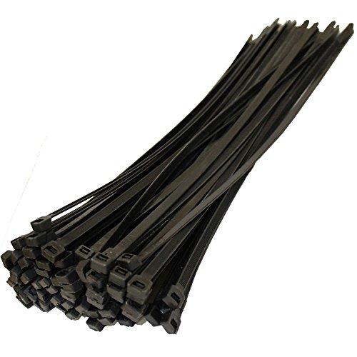 200 Black Natural Nylon Plastic Cable Ties Zip Tie Wraps 230mm X 5mm
