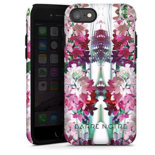 Apple iPhone X Silikon Hülle Case Schutzhülle Blumen Muster Flower Tough Case glänzend