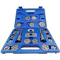 Maletín de herramientas para rebobinar pistón de pinzas de freno, kit de 21 piezas, de Defender Tools.