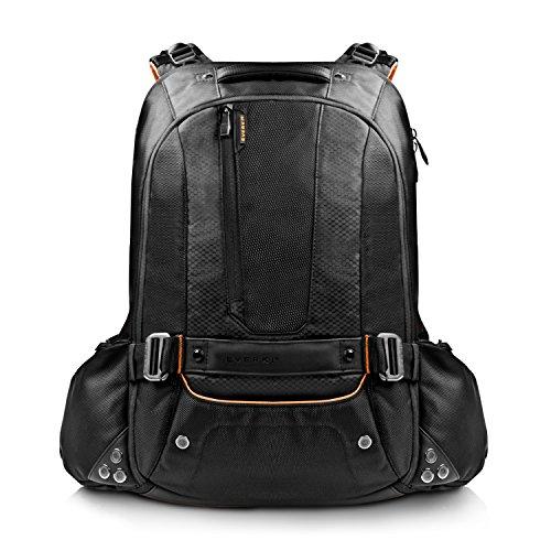 Everki Beacon - Laptop Rucksack für Notebooks bis 18 Zoll (45,72 cm) mit Schutztasche für Spielekonsolen (PS4, xBox, Wii), durchdachtem Fächer-Konzept - passend für Gaming Laptops (Asus ROG GL752, Acer Aspire, Dell Alienware 15, MSI GT, XMG), Schwarz