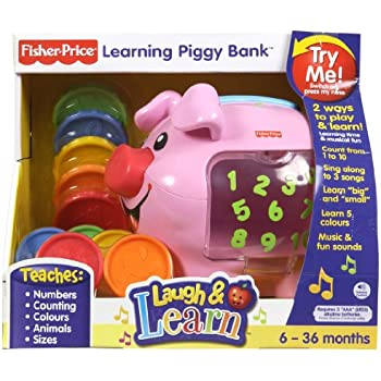 Toddler Piggy Bank Play Set Learning Toy Fisher Price Baby Kids Laugh Learn Coin
