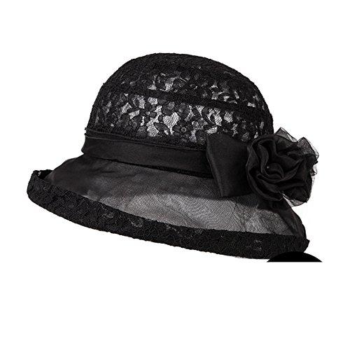 Chapeaux femmes/Chapeau d'été/Version coréenne de la gaze de soie Sun Hat/Chapeau de Bow/Chapeau de soleil/Chapeau de pêcheur/Chapeau de seau B