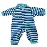 MagiDeal Niedliche Babypuppe Strampler Jumpsuit Overall Kleidung für 14,5 Zoll Doll - A - Blau