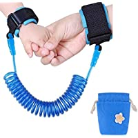 Emwel Anti Lost Wristband Safety Wrist Link Belt, 1.5M Baby Toddler Restraint Security Harness Strap Leash Walking Hand Belt Child Kids Travel Cares Safety Elastic Wire Rope (Blue)