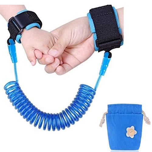 Carryme Baby Kinder Anti-Verloren Sicherheitsleine Kindergehen Handgelenk Band Kinder Sicherheit Handgelenk Link Handschlaufe Laufleine alte Menschen Traktion Seil (Blau) -
