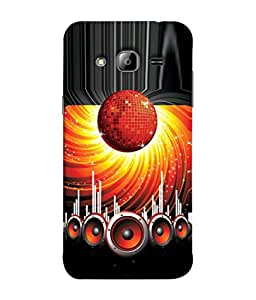 Fuson Designer Back Case Cover for Samsung Galaxy On5 (2015) :: Samsung Galaxy On 5 G500Fy (2015) (Woofers Dancing Hall Stage Disco Discotheque)