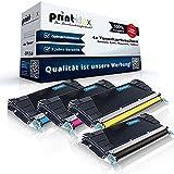 4x Kompatible Tonerkartuschen für Lexmark X734DE X736DE X738DE X738DTE - alle 4 Farben - Schwarz Cyan Magenta Yellow - Office Plus Serie