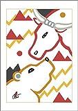 Jacqueline Ditt The Bull and the Bear Thing - Essential (Die Bullen und Bären Sache - Essenziell) - universal arts Galerie Studio - Original Grafik Druck limitiert handsigniert und nummeriert