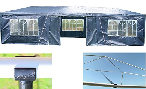 Airwave 3 x 9m Party Tent Gazebo Marquee with 3 x Unique WindBars and Side Panels 120g Waterproof Canopy 2