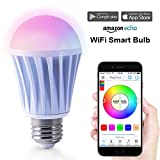 Magic Hue Smart LED Lampe WIFI Beleuchtung, mit MagicHue-APP dimmbar Birne mit Amazon echo Alexa...