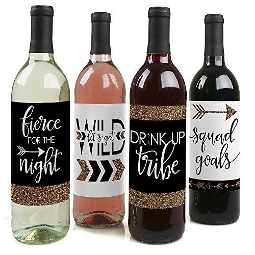 Braut Tribe-Bridal Dusche & uns Wein Flasche Etiketten-Uns Dekorationen-Set von 4