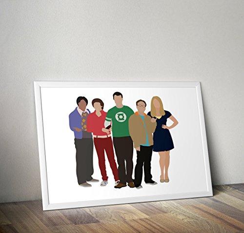 The Big Bang Theory inspiriert Sheldon Cooper Poster Print Geschenke - Alternative TV/Movie Poster in verschiedenen Größen (Frame nicht enthalten)