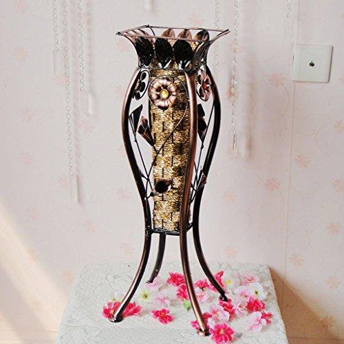 Art De Fer Support À Fleurs Salon Vintage Vase Modèles De Sol Panier À Fleurs Décoration De La Maison Bouteille Diamètre: 19Cm (Carré) 60Cm De Haut,A