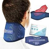 Sports Laboratory Supporto Per Collo Cervicale PRO+ Cuscinetto Gel Integrato Per Terapia Caldo e Freddo, Per Sollievo dal Dolore al Collo e Alle Spalle, Regolabile, Guida Gratuito