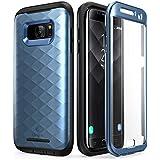 Galaxy S7 Edge Hülle, Clayco [Hera Serie] Schutzhülle Ganzkörper Handyhülle Kratzfest Case/Cover mit eingebautem Displayschutz für die Samsung Galaxy S7 Edge (2016 Ausgabe) (Blau)