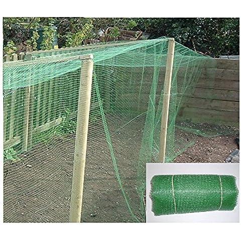 Rete per giardino in polipropilene, maglia fine (10 mm) resistente, adatta come protezione per raccolto, verdure, cassette di frutta, laghetti e molto altro, dimensioni: 10 x 4 m, Qualità professionale - Protezione Stagno Rete