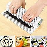 Makisu Plastique Tapis de sushi en bambou 24cm X 24cm (Blanc)