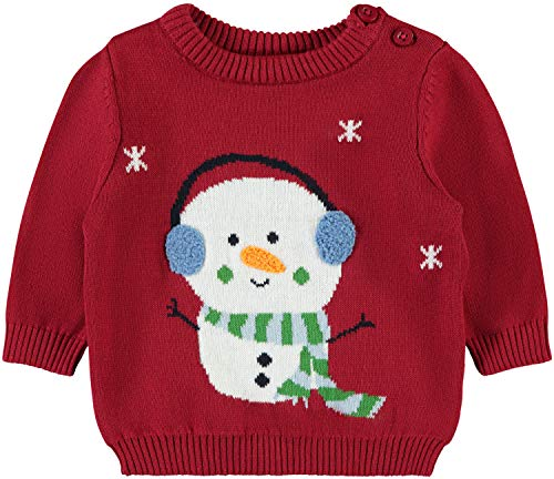 NAME IT Baby-Jungen Pullover NBNRAJUL LS Knit Box, Rosa (Jester Red Dawn Pink), 80