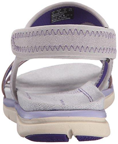 Hush Puppies Women's Miranda Aida Sandal, Light Grey/Lilac Leather, 10 M US Light Grey/Lilac Leather