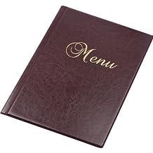 Carta Menú de Mesa Rojo Rubí Restaurante Pub Hotel Catering 12 Páginas Tamaño A4