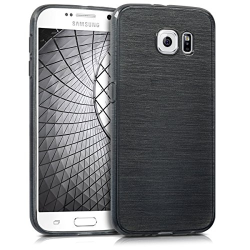 kwmobile Samsung Galaxy S6 / S6 Duos Hülle - Handyhülle für Samsung Galaxy S6 / S6 Duos - Handy Case in Anthrazit Transparent