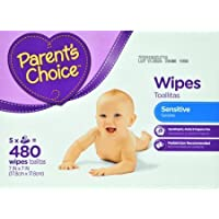 Parents Choice Sensitive Wipes, 480 sheets by Parents Choice