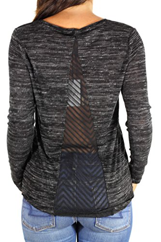Le temps des Cerises, Damen Shirt HUSSEIN, Black Schwarz (Black)
