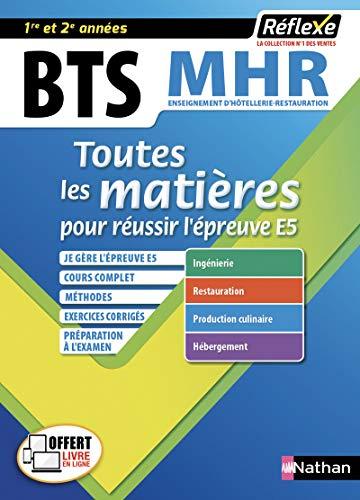 BTS MHR - Management en Hôtellerie Restauration - 1ère et 2e année - Toutes les matières (19) par Pierre Villemain