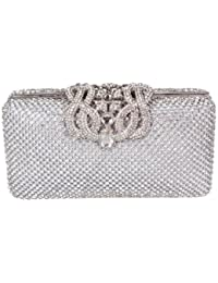 Viskey–lujo aluminio lentejuelas trihedral funda embrague noche bolso de mano