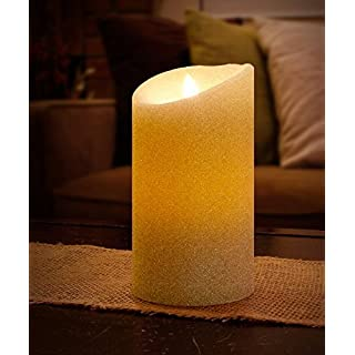 Aluratek ALC3507F 7 Flameless LED Wax Candle with Built-In Timer, Cream by Aluratek