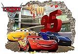 Infans murale enfants Stickers de voiture 3d Autocollant Decor Disney Cars pièce Hot vente en gros travaux manuels Teacher Beaucoup d'anniversaire en vinyle Stickers muraux McQueen Taille 57cm x 80cm
