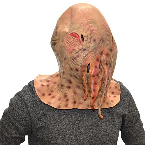 Image of Overhead Doctor Who Ood Full Head Rubber Latex Mask Fancy Dress Halloween Party Accessory
