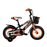 Cvbndfe Indoor Cycling Bike Stationary Kinder Jungen Gilrs Fahrrad 12inch mit Stablizers Alter 3-5Y Cycle Bike Komfortables Sitzkissen (Farbe : Orange)