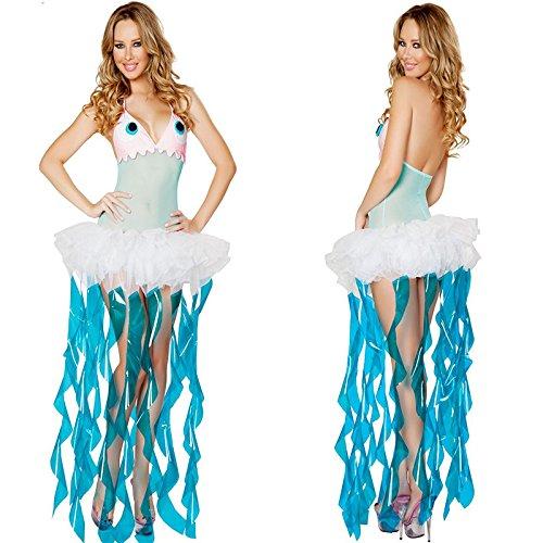 Gorgeous Siamesische Halloween-Kostüm -Ballettröckchen- Meerjungfrau Prinzessin Meerjungfrauenkleid Diskothek Stadiumsleistungskleidung ()