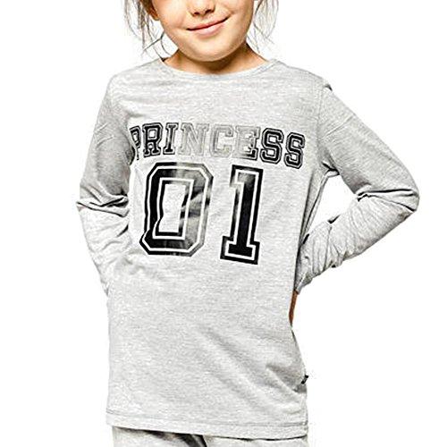 Juleya Familie Passende Pyjamas Langarm Top & Lange Hosen Hose Nachtwäsche Größe Princess 140cm