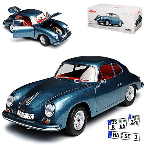 Preisvergleich Produktbild alles-meine.de GmbH Porsche 356A Carrera Coupe Blau Grau 1955-1959 1 / 18 Schuco Modell Auto