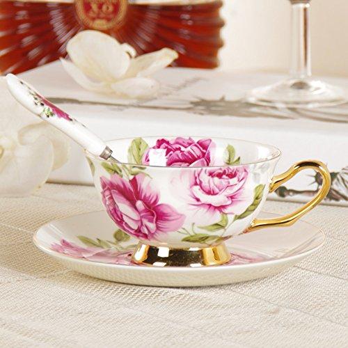 Inglese creativo rosa Tea Cup/Ceramic coffee cup and saucer/ bone